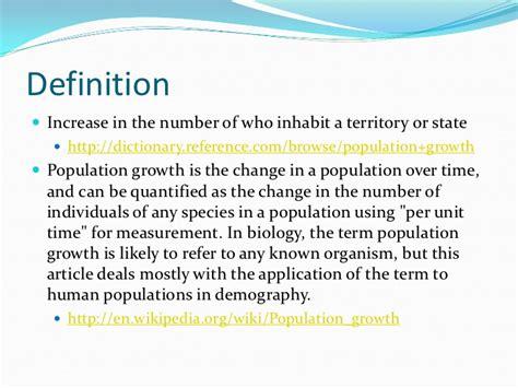 Opulate Definition Human Population Growth Mathew