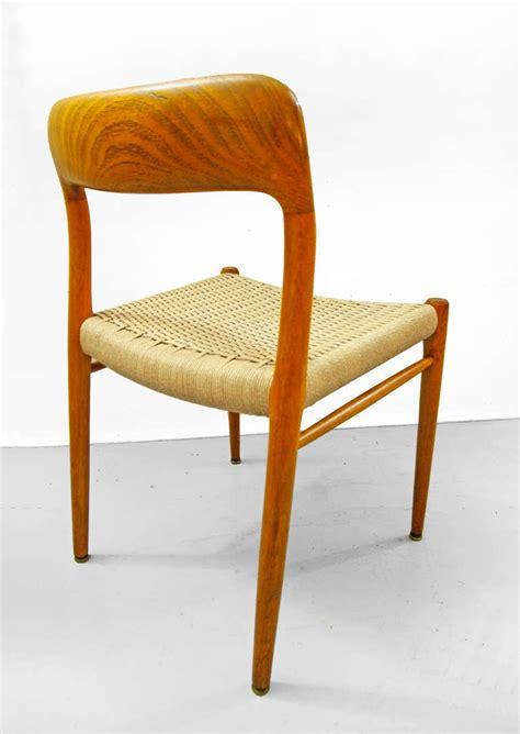 set of four danish modern teak dining room chairs for sale set of four dining chairs by niels otto moeller teak