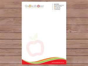 bold modern letterhead design design for quote broker a