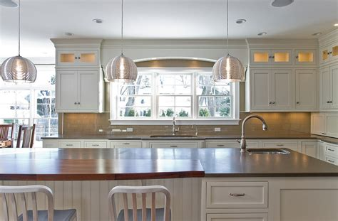 kitchen breakfast bar lighting ideas chic kovacs lighting trend boston farmhouse kitchen
