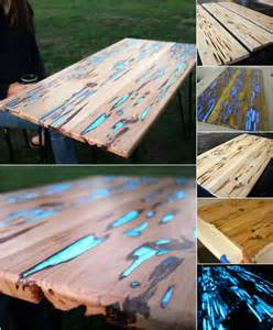pong tisch bauen rustic diy with a twist magical glow in the resin