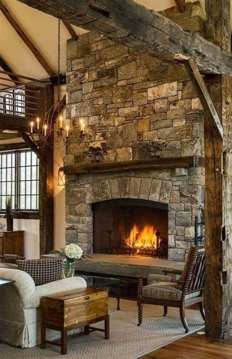 beautiful stone farmhouse fireplace ideas  improve