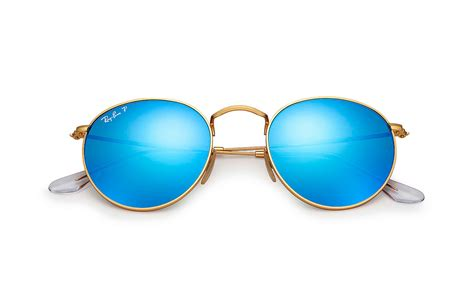 ray ban sonnenbrille  flash lenses polarized gold
