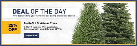 osh fresh christmas trees lowe s 25 fresh cut trees hip2save