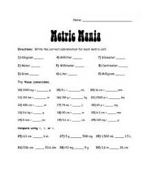 Systems Chart Worksheet Answers by Metric System Charts Printables Metric Mania Metric