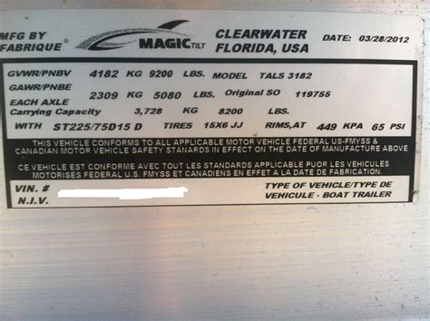 boat vin number location boat trailer id number location boat model numbers