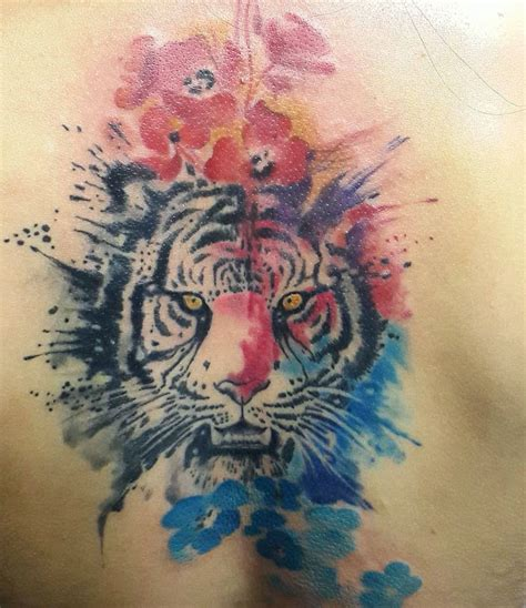 watercolor tattoo st louis watercolor tiger by studio baraka russia
