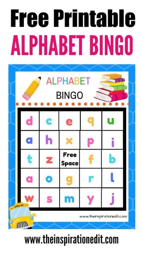 printable alphabet bingo for preschoolers 101 best images about early years ideas from bloggers on