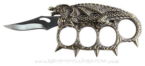 brass knuckle blades lord spiked brass knuckles folding knife