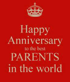 happy anniversary to the best parents in the world poster