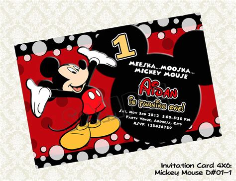 birthday invites captivating mickey mouse 1st birthday