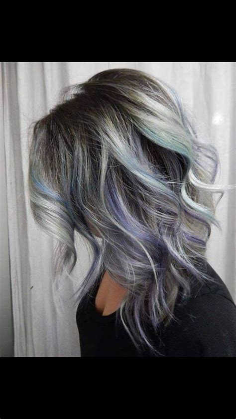 grey roots on highlighted hair pretty highlights for gray rooted hair grey ombr 233 with