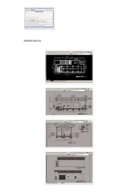 layout pabrik es balok contoh rab dan gambar pabrik es balok