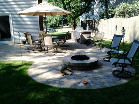 Patio Pavers For Grill Grill Surround Outdoor Living With Archadeck Of