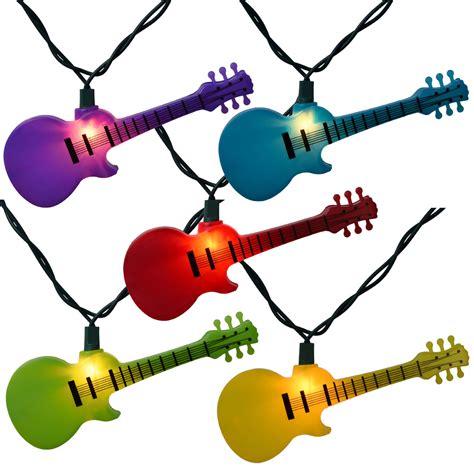 guitar string lights multi color guitar string lights