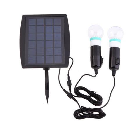 Solar Light Kits Outdoor Outdoor Solar Power Led Lighting 2 Bulb L System Solar Panel System Kit 43th Ebay
