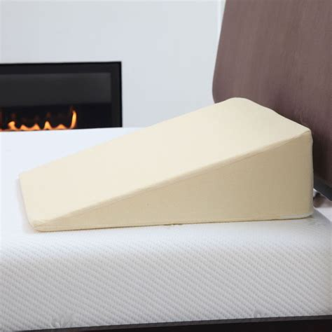 bed wedge pillow for acid reflux remedy acid reflux wedge pillow with cover ebay