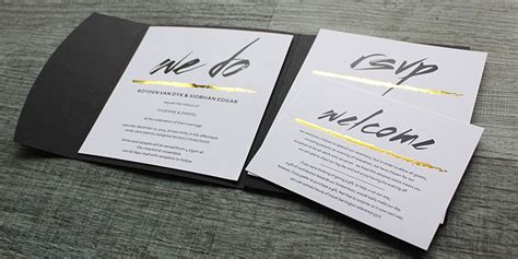 foil printed wedding invitations new zealand silver gold black white - Black And Gold Wedding Invitations Nz