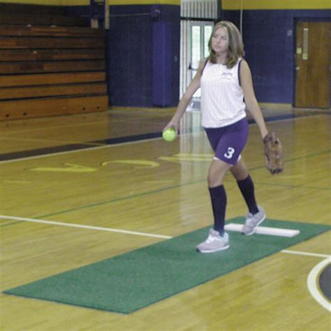 Softball Pitching Mat by Softball Portable Indoor Pitching Mat Longstreth