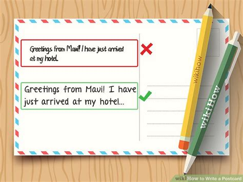 how to make a post card how to write a postcard with sle postcards wikihow