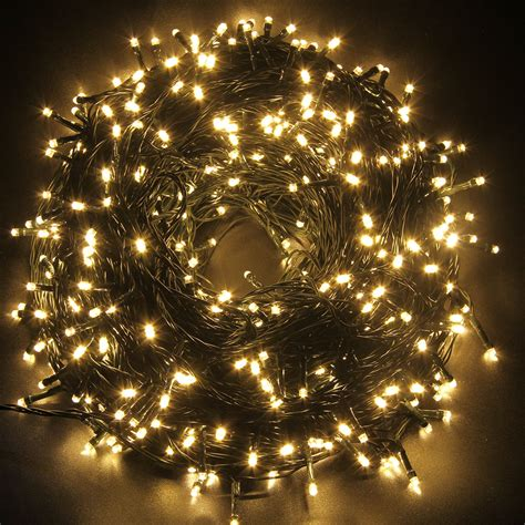 100m 500 led christmas tree wedding warm white fairy party