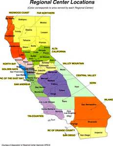 california supported living network regional center map