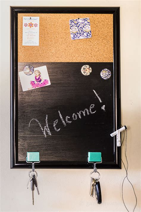 diy chalkboard message board diy easy message board