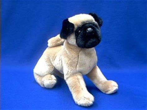 size pug stuffed animal pug stuffed animal plush quot muggins quot at animal world 174