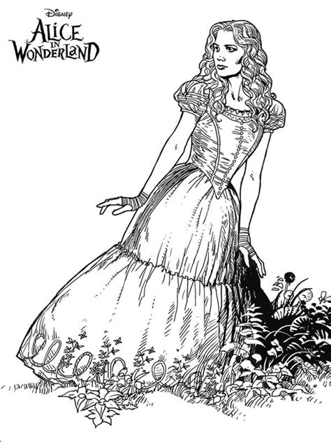 alice in wonderland coloring pages for adults coloring pages