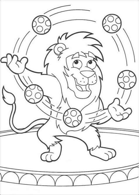 lion tamer coloring page lion juggling with balls dora the explorer coloring page