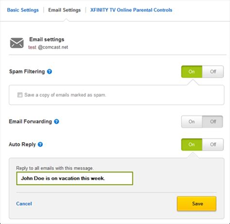 email xfinity customer service personalize your email with advanced features xfinity