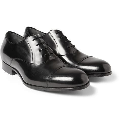 lanvin oxford shoes lanvin leather oxford shoes in black for lyst