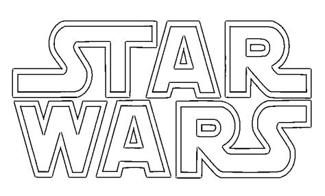 Coloring Pages Star Wars Logo | saber star wars coloring pages coloring pages