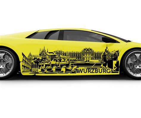 Autoaufkleber Xxl by Autoaufkleber W 252 Rzburg Xxl Skyline Tattoo Car Sticker Auto