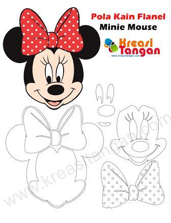 Boneka Micky Mouse Minnie Mouse hasil gambar untuk pola boneka flanel mouse minnie