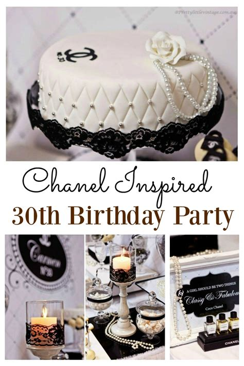 chanel inspired 30th birthday