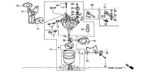 honda gx200 carburetor diagram honda gx200