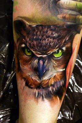 tattoo 3d owl a beautiful artistic tattoo of an owl in an oil painting