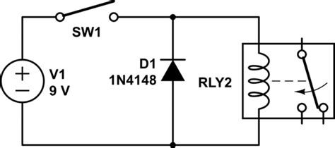 diode protection coil bi directional flyback diode for relay spike protection electrical engineering stack exchange