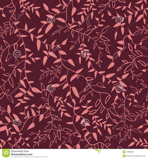 svg change pattern color marsala floral seamless pattern with leaves stock vector