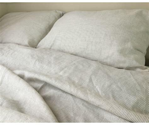 Black Ticking Stripe Duvet Cover by Striped Duvet Cover Handmade In Linen Superior