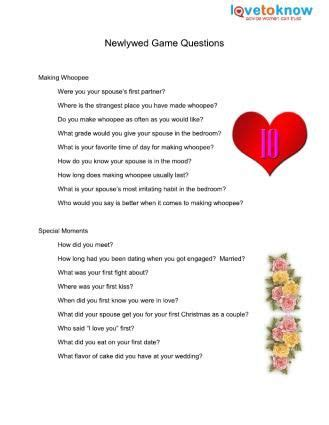printable couples questionnaire newlywed game printable questions valentines party