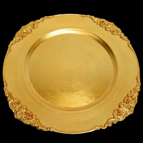 chargers on sale gold heavy duty charger plate with trim 13 inch