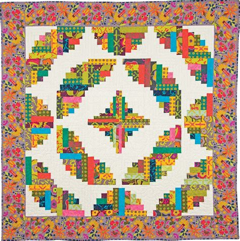 log cabin quilt pattern yardage the curvy log cabin quilts ruler value package will ship