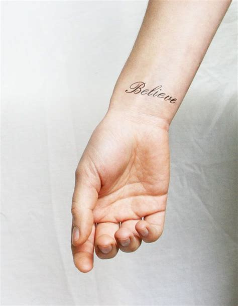 wrist script tattoos best 20 believe tattoos ideas on