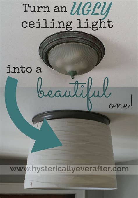 "ceiling ""boob"" light makeover   hysterically ever after   DIY for the home   Pinterest"