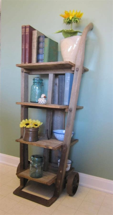 vintage this repurpose that antique furniture dolly repurposed into shelf by