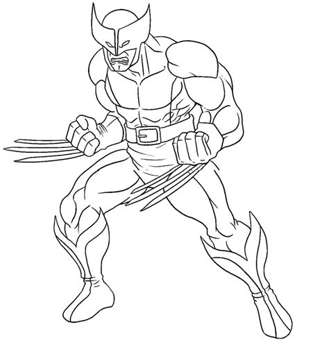marvel adventures coloring pages wolverine printable coloring pages x men super heroes