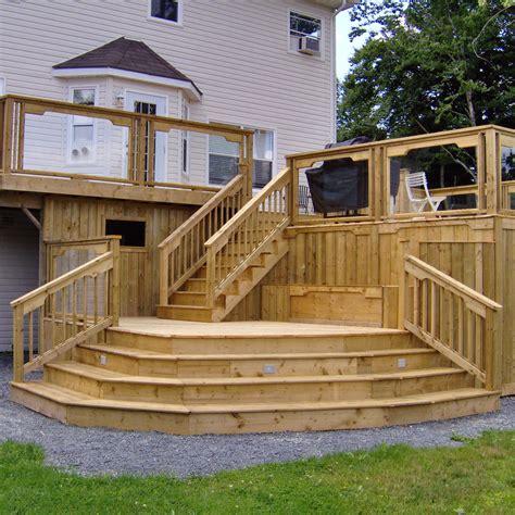 backyard decks designs backyard deck with multilevel and stair ideas lower