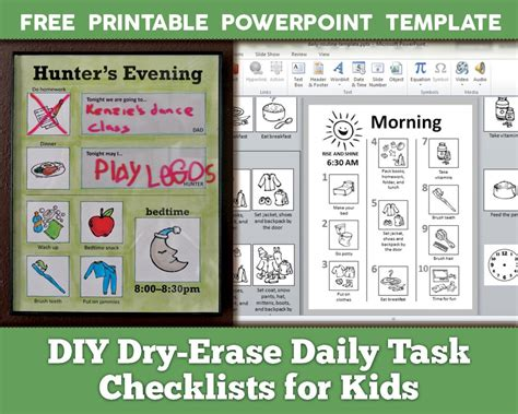 printable daily schedule for adhd child diy dry erase daily routine checklists for kids with free